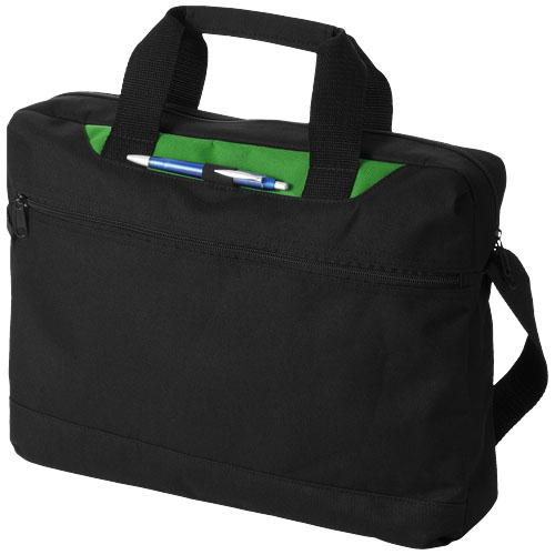 Dallas conference bag in black-solid-and-light-green