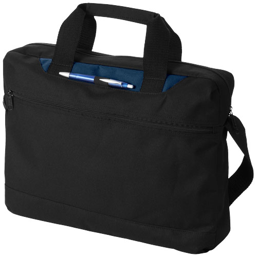 Dallas conference bag in black-solid-and-navy