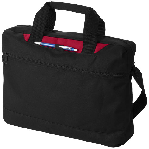 Dallas conference bag in black-solid-and-red