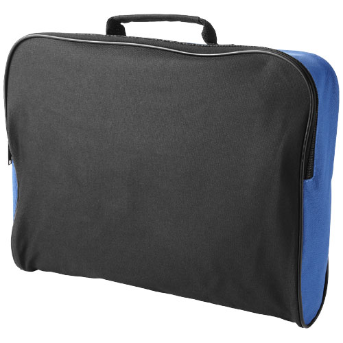Florida conference bag in black-solid-and-royal-blue