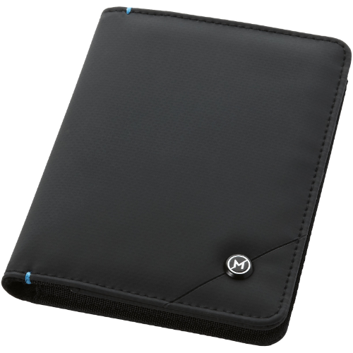 Odyssey RFID secure passport cover in black-solid