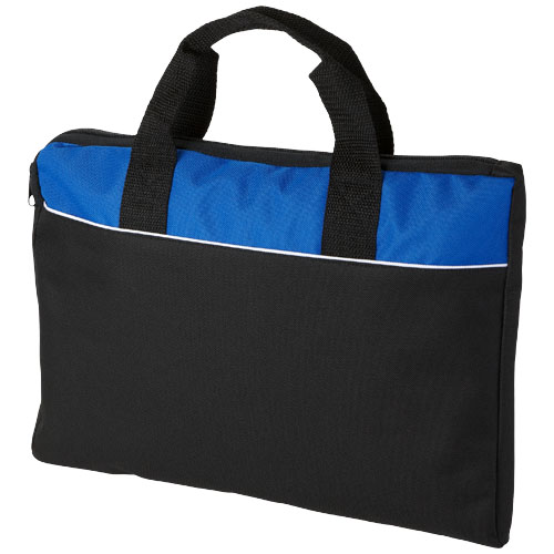 Tampa conference bag in black-solid-and-royal-blue