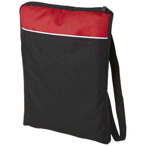 Miami shoulder bag in black-solid-and-red