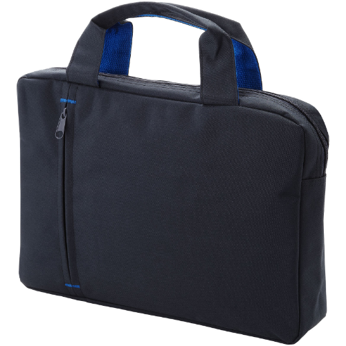 Detroit conference bag in black-solid-and-royal-blue