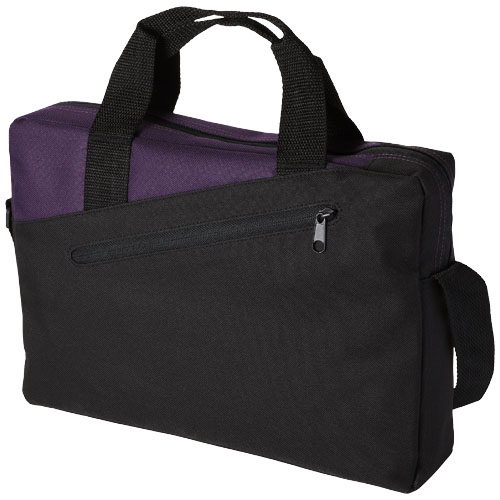 Portland conference bag in black-solid-and-plum