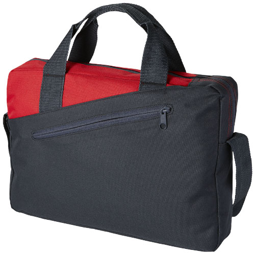 Portland conference bag in heather-charcoal-and-red