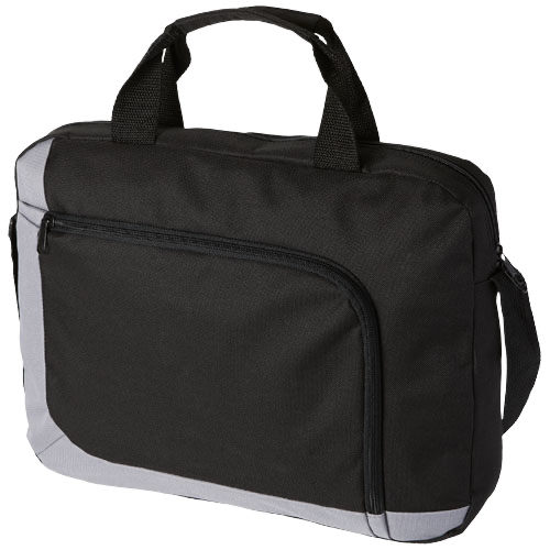 San Francisco conference bag in black-solid-and-white-solid