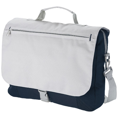 Pittsburgh conference bag in navy-and-grey