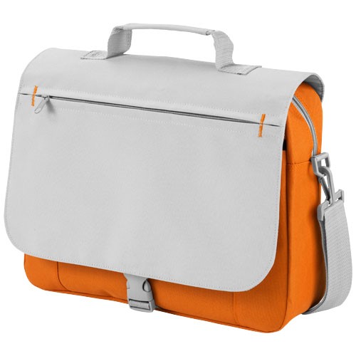 Pittsburgh conference bag in orange-and-grey