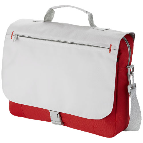 Pittsburgh conference bag in red-and-grey