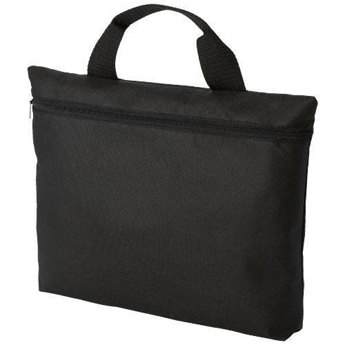 Edison non-woven conference bag in black-solid