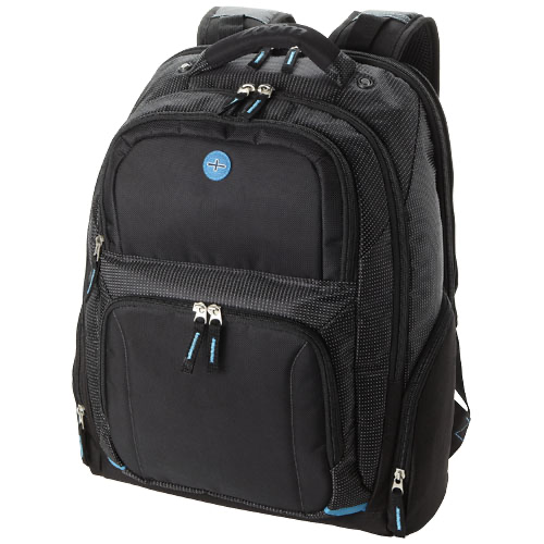 Checkpoint-Friendly 15.4'' Computer-Backpack in black-solid
