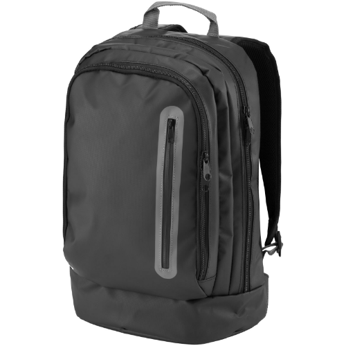 North-sea 15.4'' water-resistant laptop backpack in black-solid