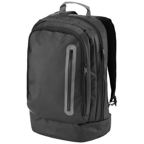 North-sea 15.4'' water-resistant laptop backpack in black-solid