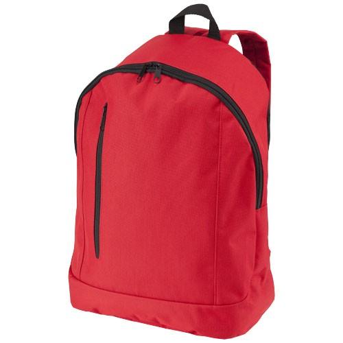 Boulder vertical zipper backpack in red
