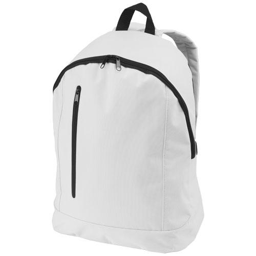 Boulder vertical zipper backpack in white-solid