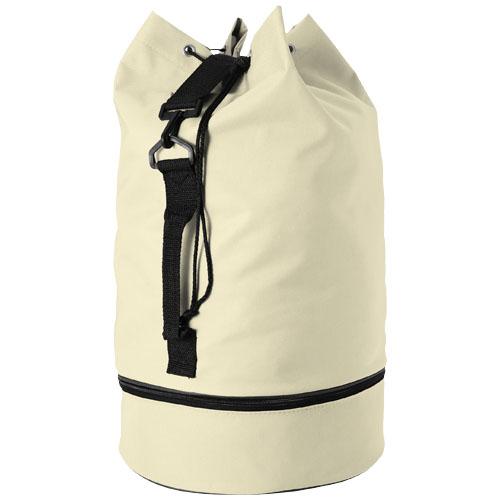 Idaho sailor zippered bottom duffel bag in beige
