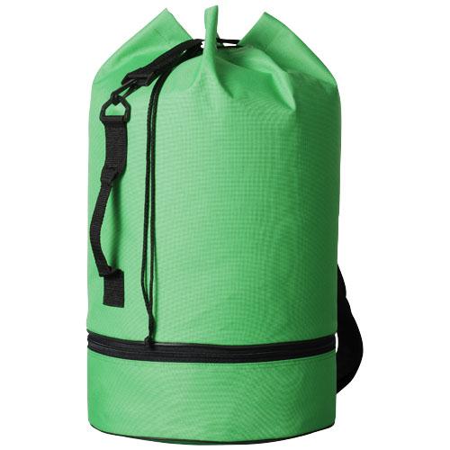 Idaho sailor zippered bottom duffel bag in bright-green
