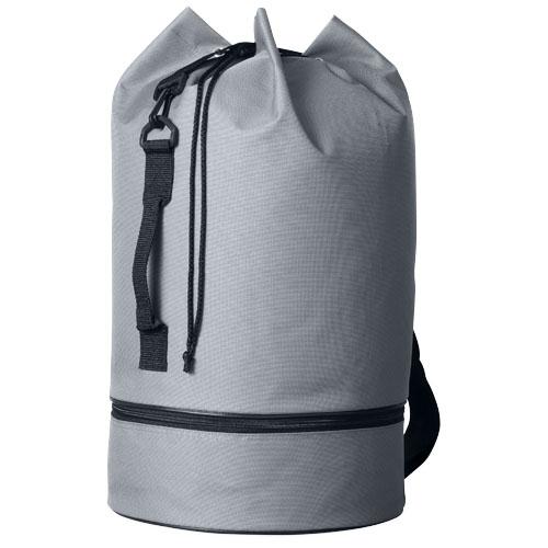Idaho sailor zippered bottom duffel bag in grey