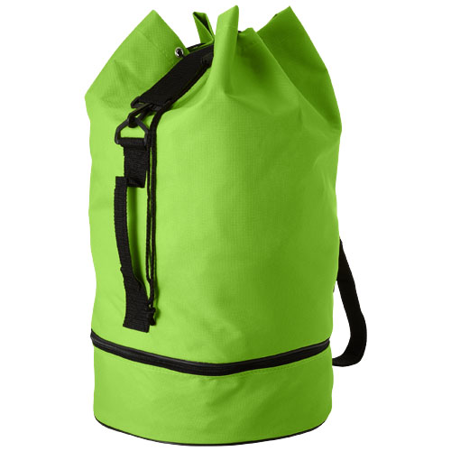 Idaho sailor zippered bottom duffel bag in lime