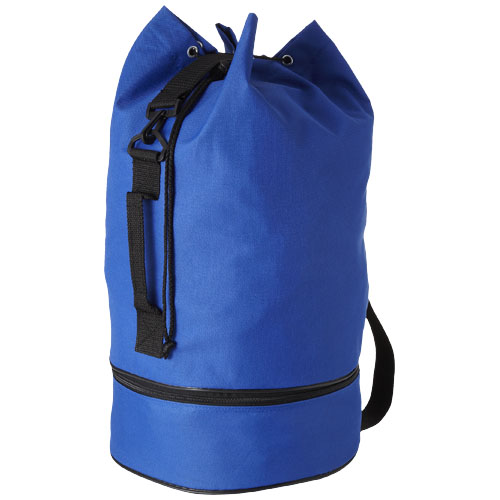 Idaho sailor zippered bottom duffel bag in royal-blue