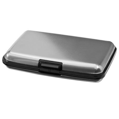 Granada 12-card hardcase card holder in silver