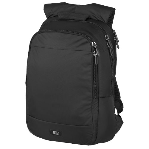Shapiro 15.6'' laptop backpack in black-solid