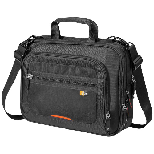 14'' Checkpoint friendly laptop case in black-solid