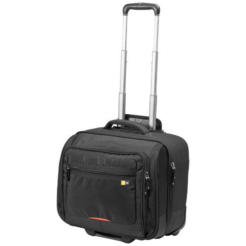 Rolling 15.6'' laptop case in black-solid