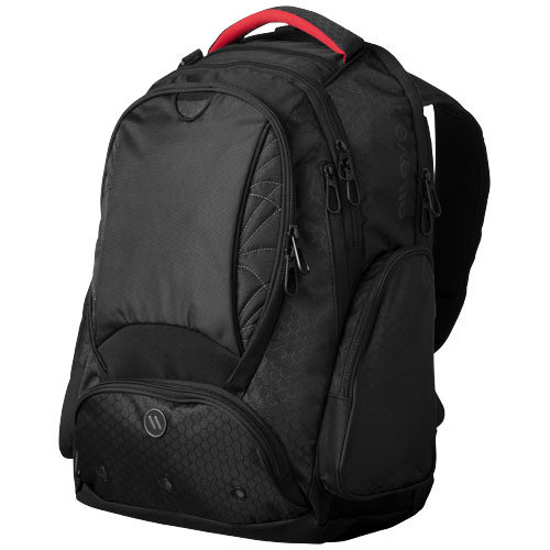 Vapor 17'' checkpoint friendly laptop backpack in black-solid