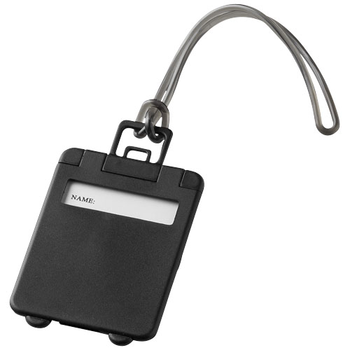 Taggy luggage tag in black-solid