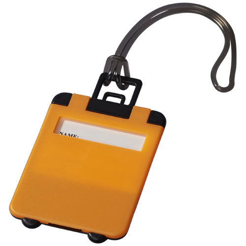 Taggy luggage tag in neon-orange