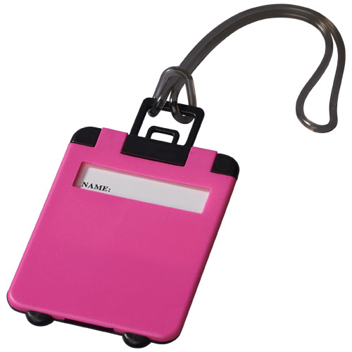 Taggy luggage tag in neon-pink