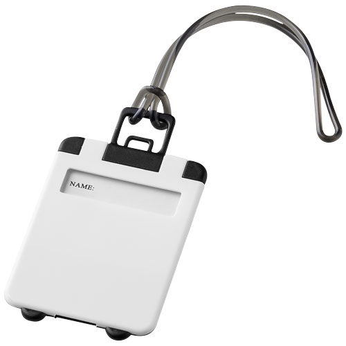 Taggy luggage tag in white-solid