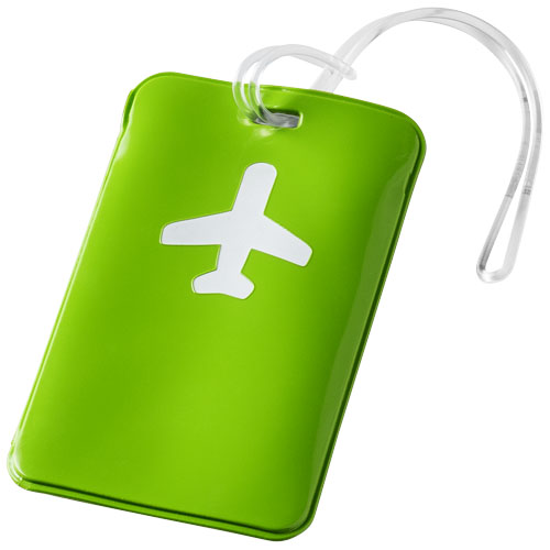 Voyage luggage tag in apple-green