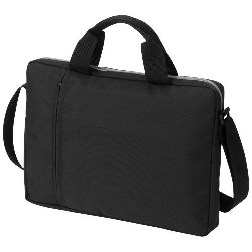 Tulsa 14'' laptop conference bag in black-solid
