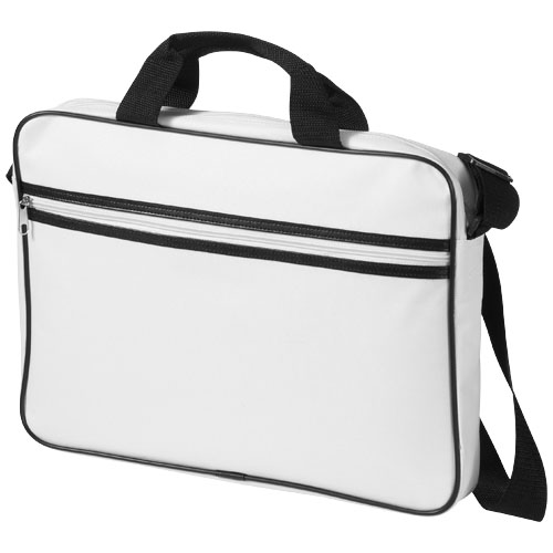 Knoxville 15.6'' laptop conference bag in white-solid