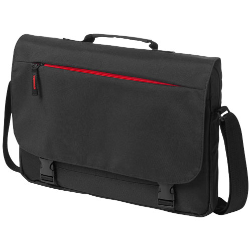 Boston 15.6'' Laptop conference bag in black-solid