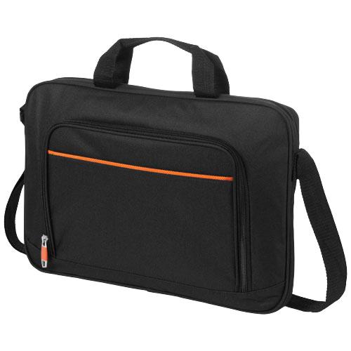 Harlem 14'' laptop conference bag in black-solid