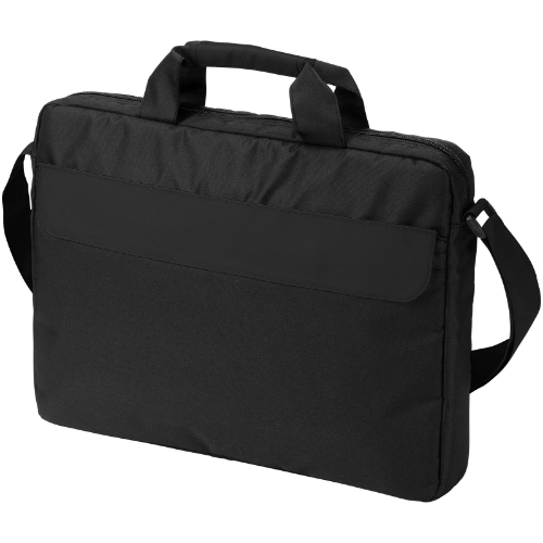 Oklahoma 15.6'' laptop conference bag in black-solid