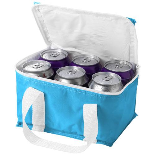 Malmo 6-can cooler bag in aqua-blue