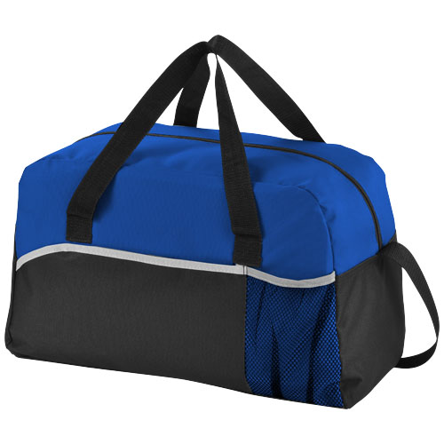 Energy duffel bag in black-solid-and-royal-blue