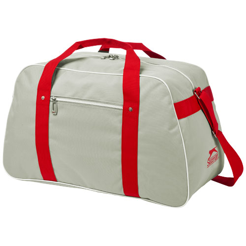 York sport bag in grey-and-red