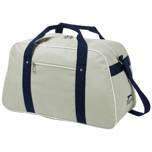 York sport bag in grey-and-navy