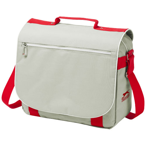 York shoulder bag in grey-and-red
