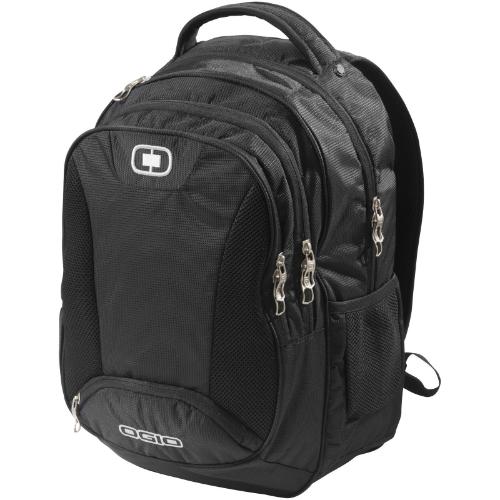 Bullion 17'' laptop backpack in black-solid