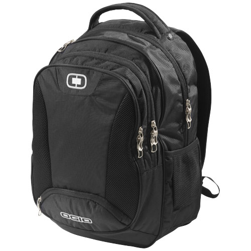 Bullion 17'' laptop backpack in black-solid