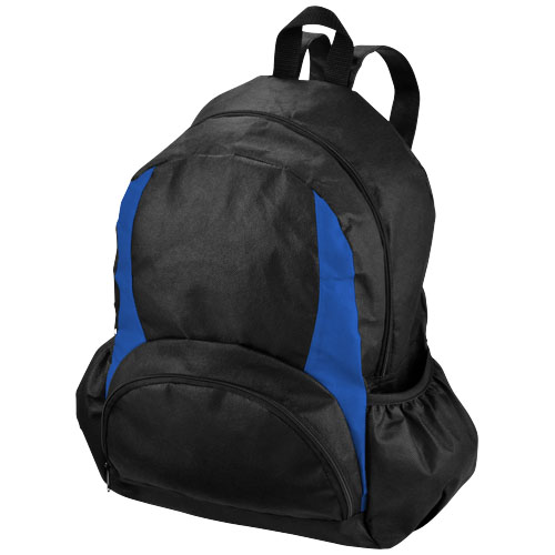 The Bamm-Bamm non woven backpack in black-solid-and-royal-blue