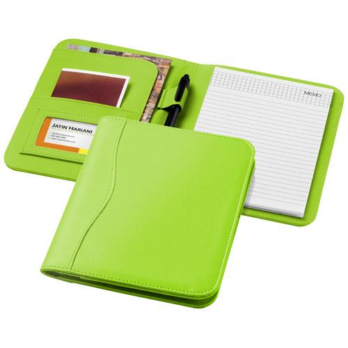 Ebony A5 portfolio in apple-green