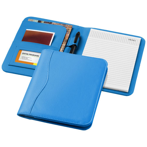 Ebony A5 portfolio in aqua-blue